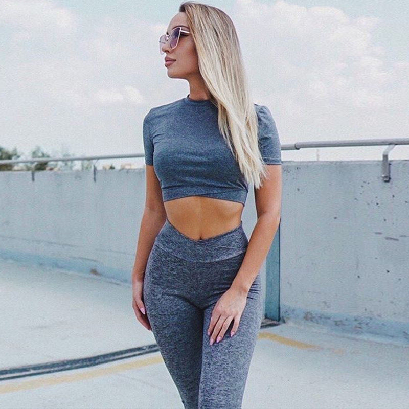 Leisure High Waisted Sweat-Wicking Breathable Yoga Suits
