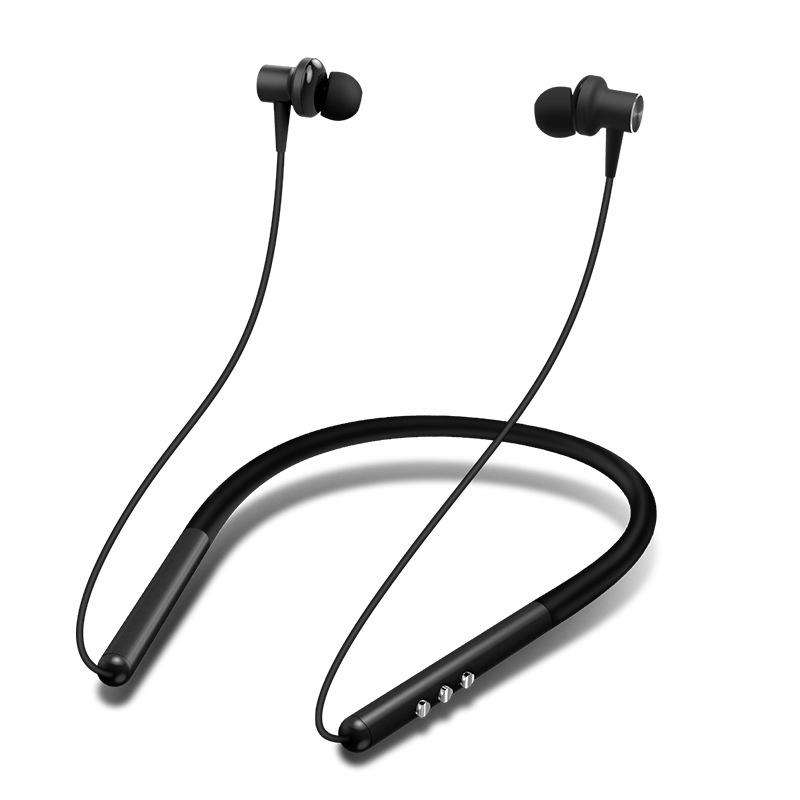 Portable Neck-Mounted Stereo Bluetooth Wireless Earphone