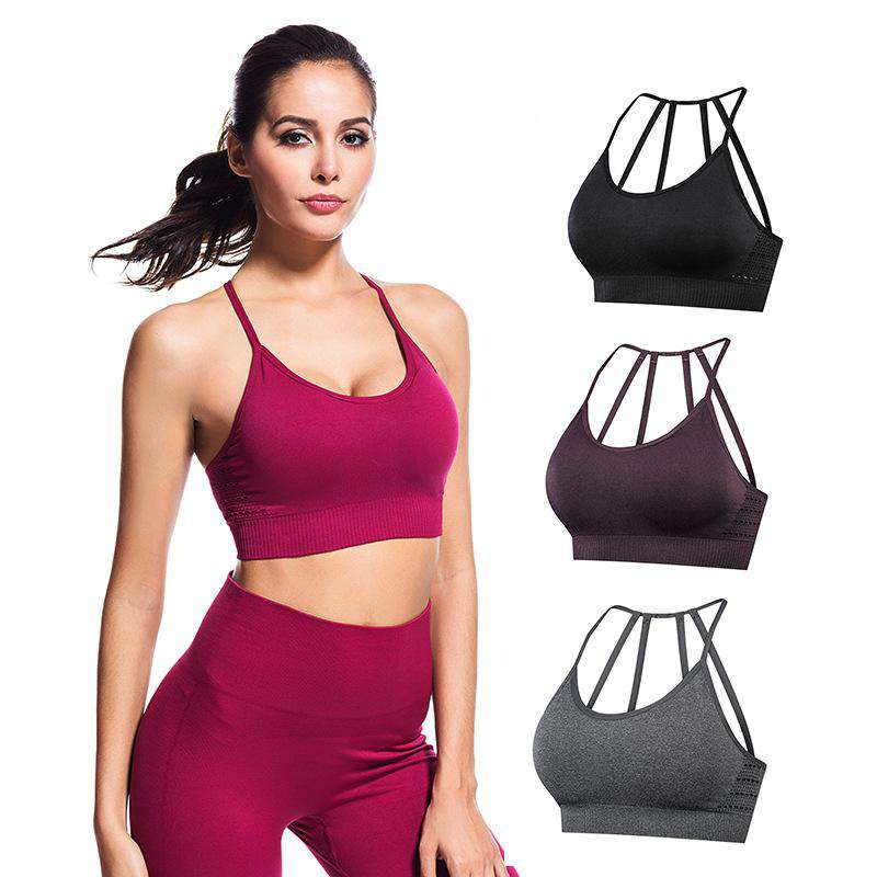 Seamless Elastic Perspiration Sports Yoga Bra