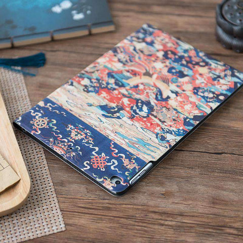 Birds & Phoenix Pattern Frosted Apple iPad Cover Case gallery 3