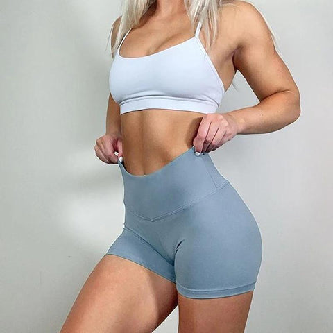High Rise Compression Push Up Gym Workout Yoga Shorts gallery 4