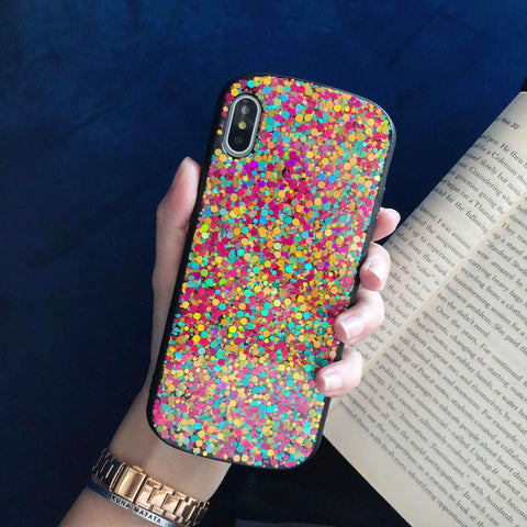 Glitter Colored Sequins Detail Phone Case for Samsung gallery 3