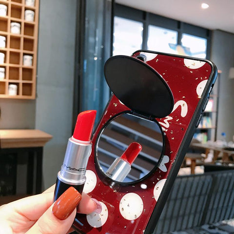 Dot Pattern Phone Case for Samsung with Mirror Phone Holder gallery 4