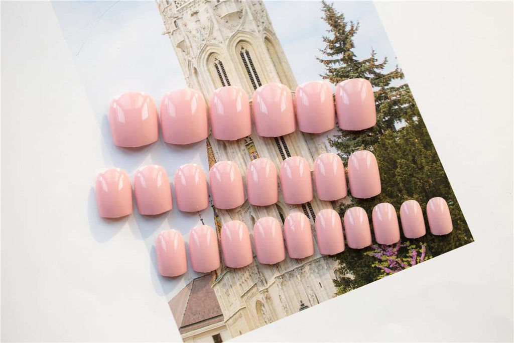 Peach Macaroon Magic Press On Nail Manicure