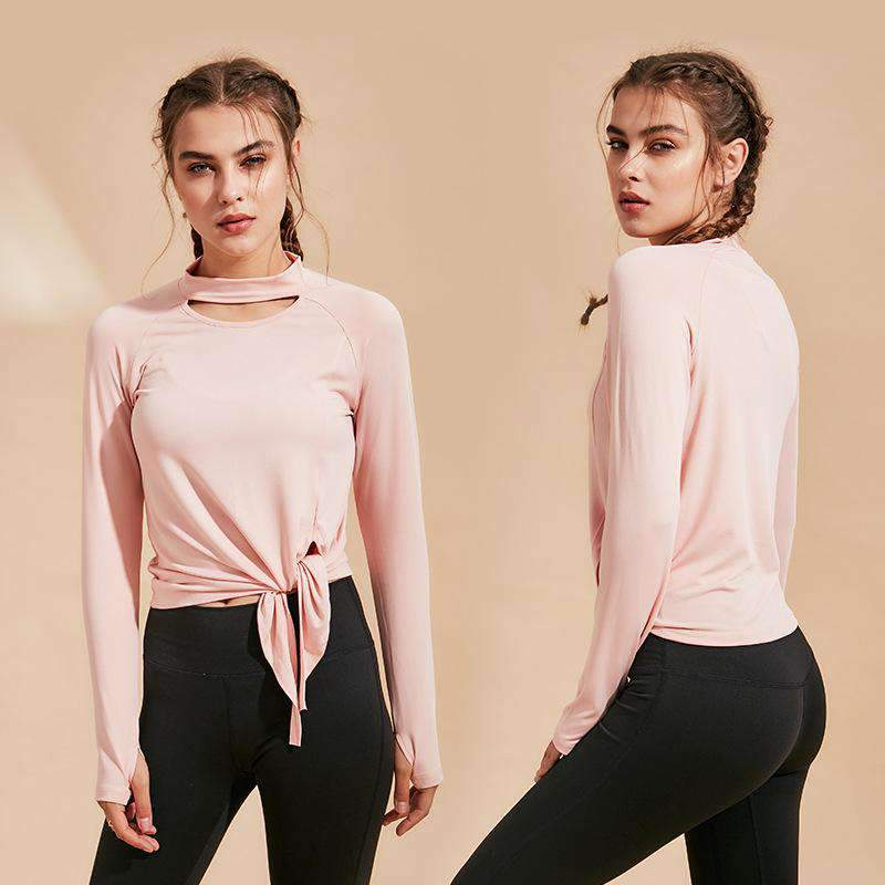 Fashion Quick-dry Long Sleeve Soft Sports Tops