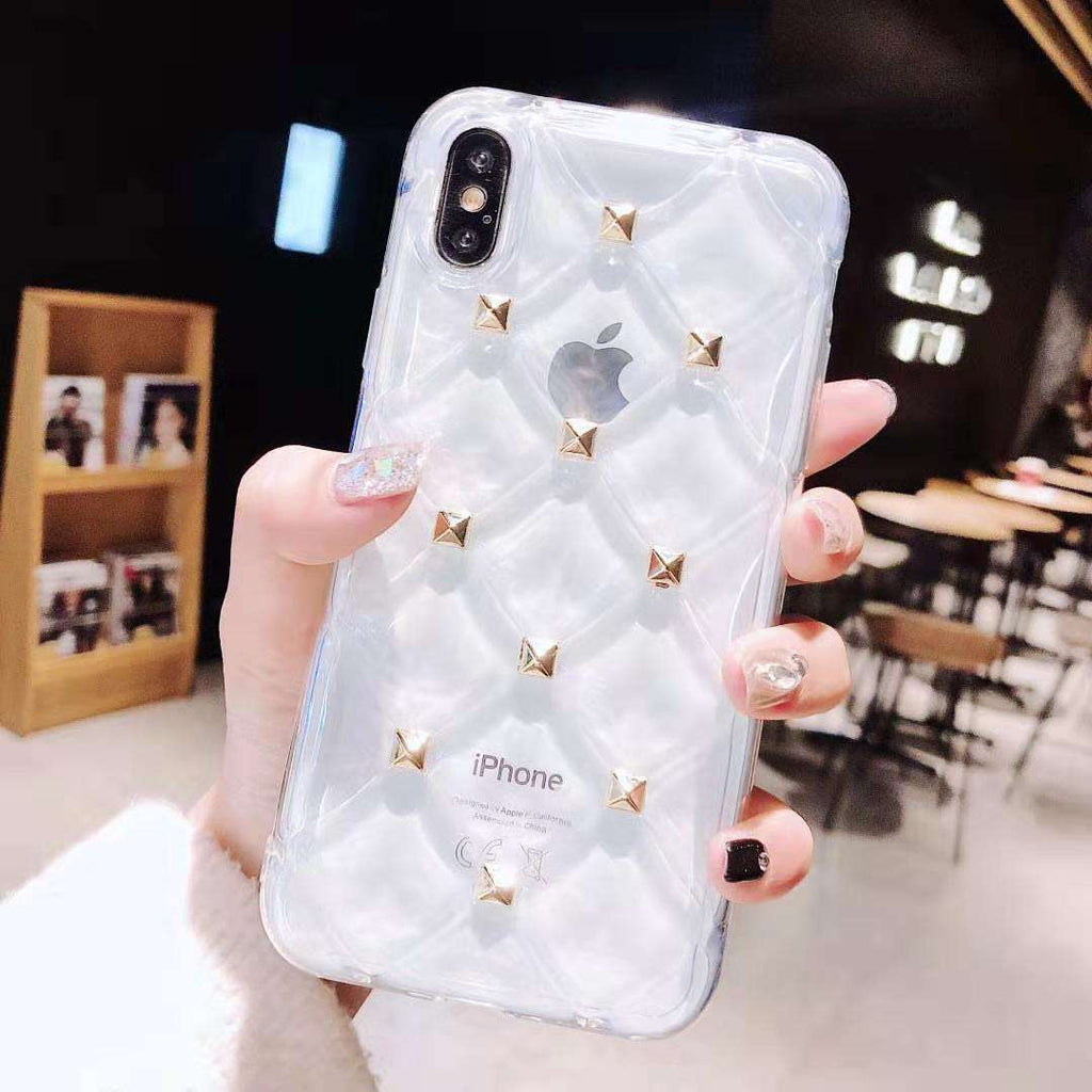Silicone iPhone Case with Rivets