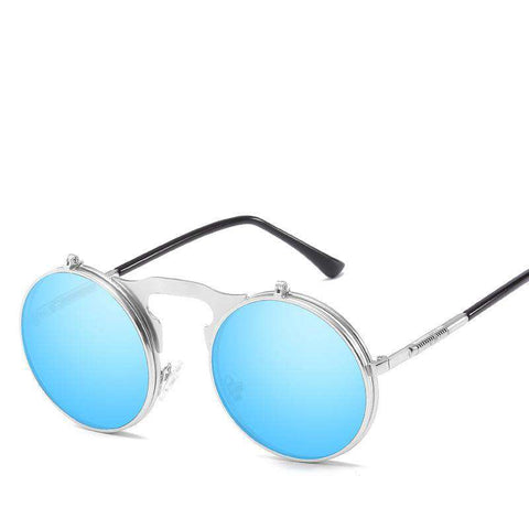 Vintage Dazzle Circle Shape Clamshell Sunglasses gallery 8