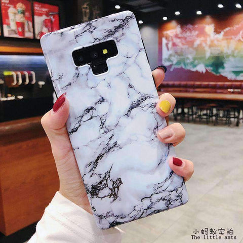 Anti-Fall Black&White Marble Phone Case for Samsung gallery 12