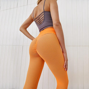 3 Colors Squat Proof Hip-Lifting Compression High-Waist Yoga Leggings