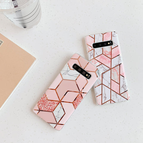 Electroplate Rhombus Marble Phone Case for Samsung gallery 4