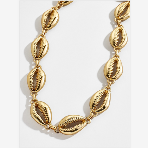 Gold Seashell Shape Necklace