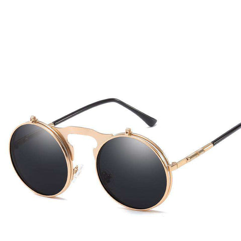 Vintage Dazzle Circle Shape Clamshell Sunglasses gallery 5