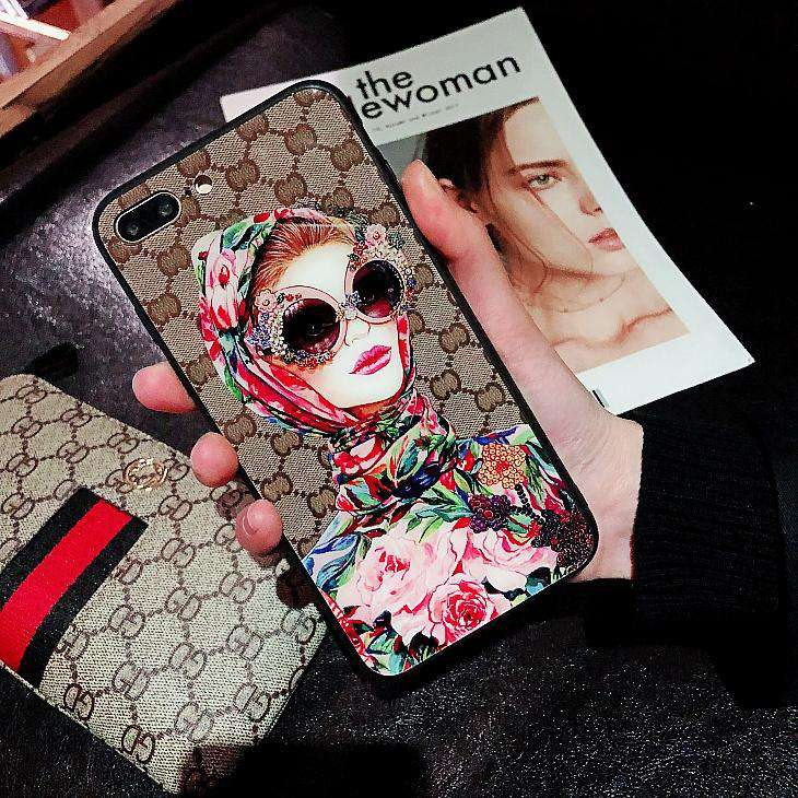 Luxury iPhone Case with a Woman's Pattern