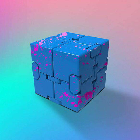 Colored Decompression Fidget Infinity Cube gallery 6