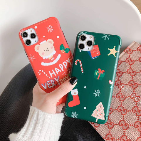 Christmas Elements Pattern iPhone Case