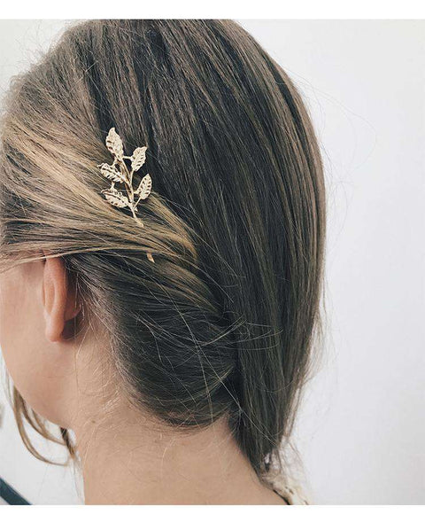 Gold Simple Flower Hair Pin gallery 10