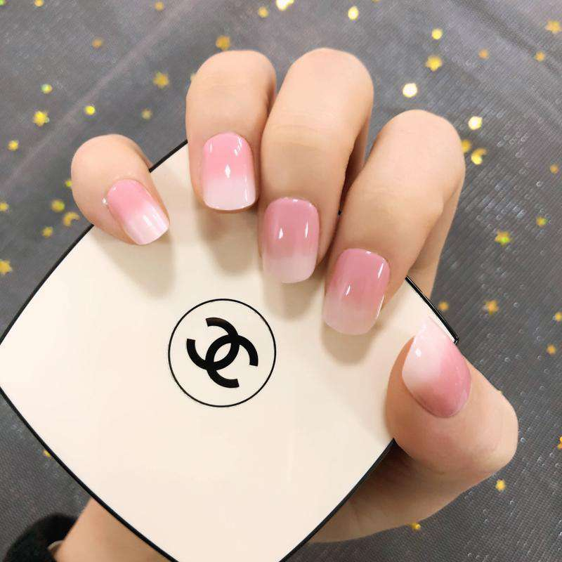 Honey Peach Magic Press On Nail Manicure