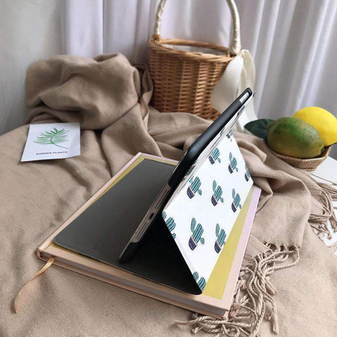 Contracted Literary Cactus Painted Apple iPad Cover Case gallery 4