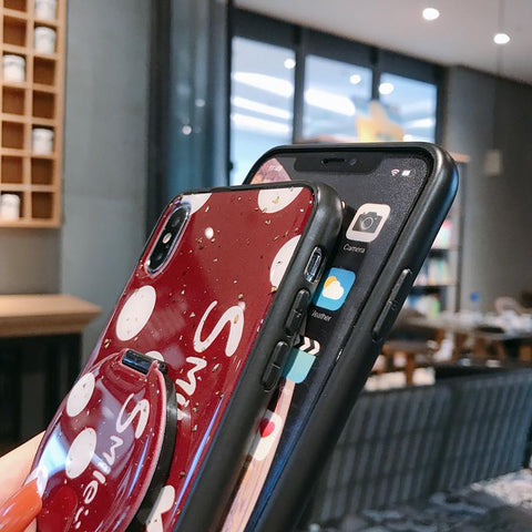 Dot Pattern Phone Case for Samsung with Mirror Phone Holder gallery 7