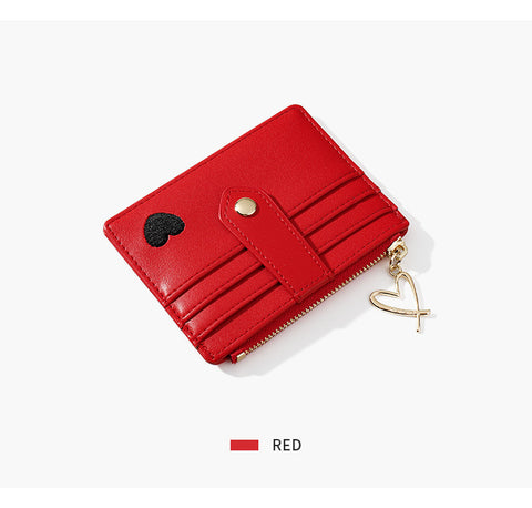 Heart Print Leather Card Holder gallery 8