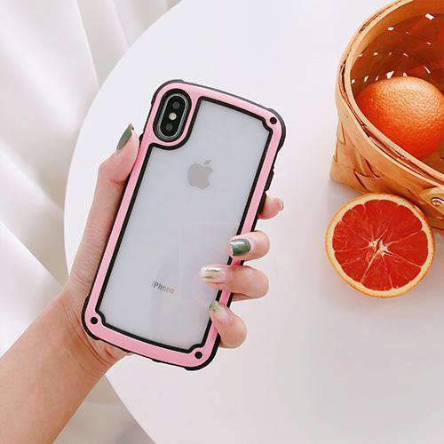 Colored Edge Transparent iPhone Case