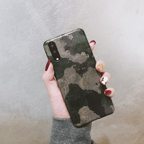 Camouflage Color Printed Epoxy Phone Case For All iPhone