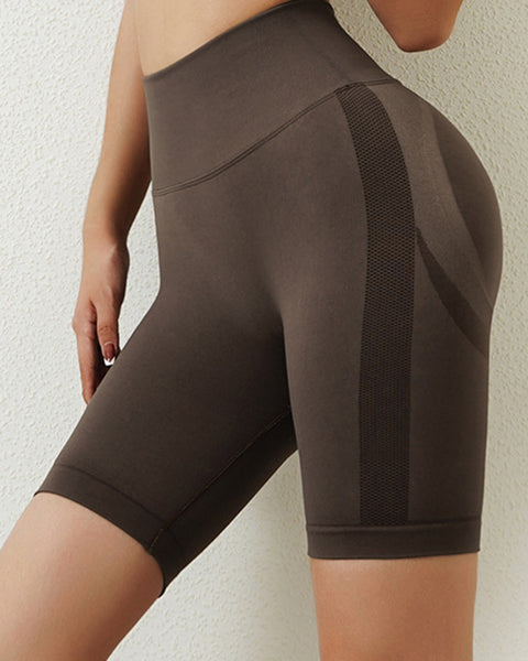 Space Dye Textured Seamless Butt Lifting Sports Shorts gallery 5