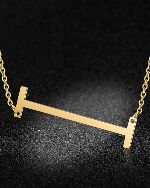 I-R Letter Charm Necklace