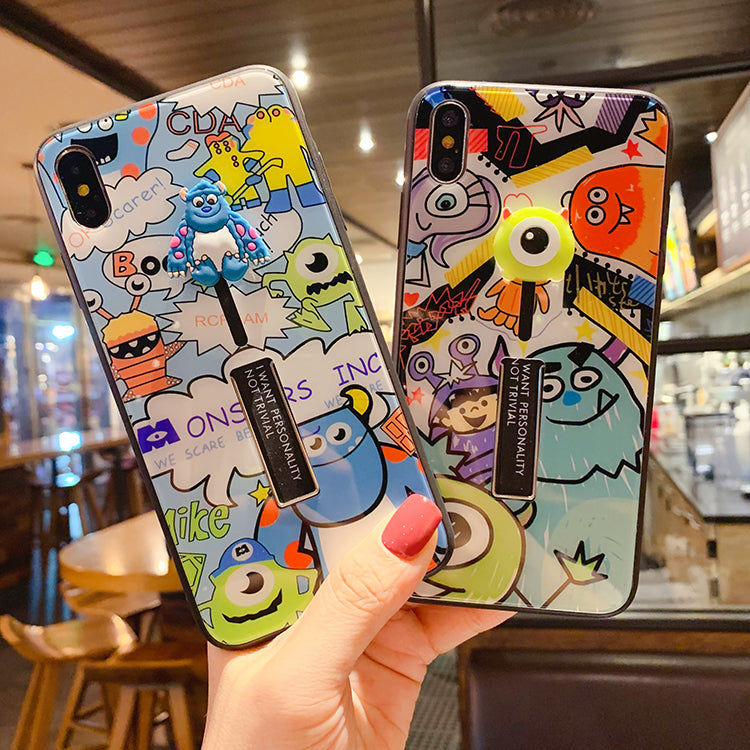 Monsters Print With Wrist Strap And Phone Stand Phone Case For All Apple Phone - Iphone 6 Plus/6S Plus