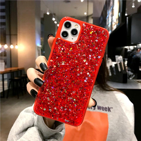 Luxury Sparkle Sequins Bling Shockproof Phone Case for Samsung gallery 6
