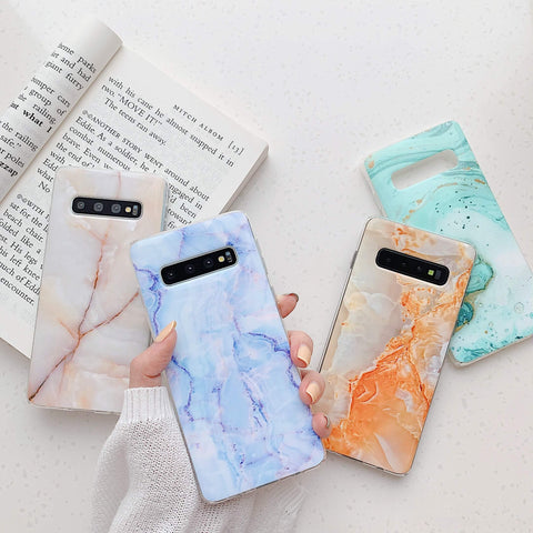 Matte Pebbled Marble Phone Case for Samsung gallery 4