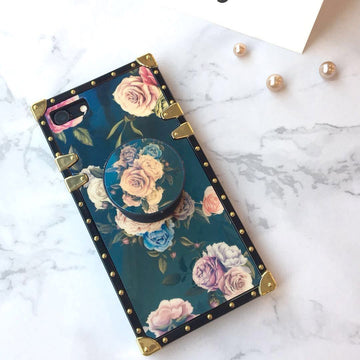 Luxury Blue iPhone Case With Phone Holder