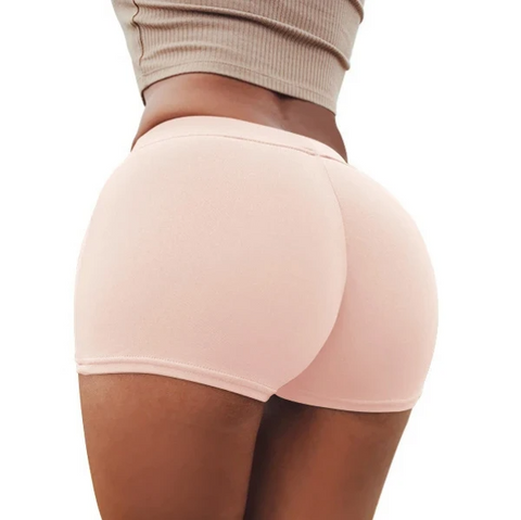 Solid Butt Lifting Compression Fit Shorts gallery 1