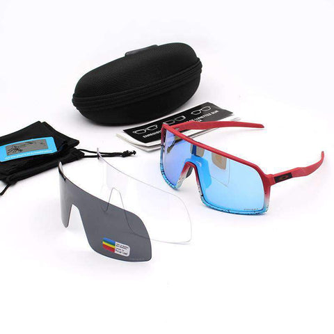3 Pieces Set Polarized Lens Goggles For Cycling gallery 7