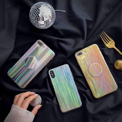 Laser Beam Stylish Chic iPhone Case With Phone Holder