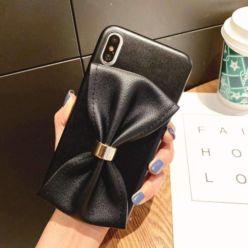 Cute Bow Designed Soft iPhone Case