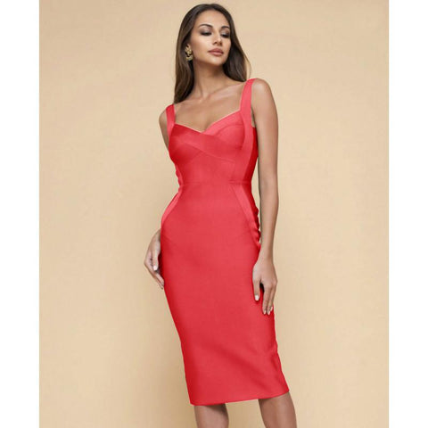 Fashionable Sexy Slim Solid-Color Party Dress