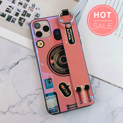 Vintage Camera iPhone Case with Strap