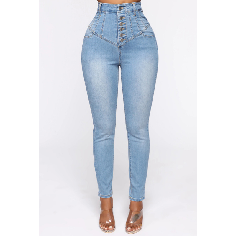Super High-Rise Button Fly Skinny Jeans