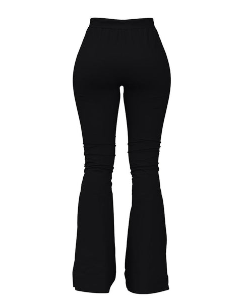 Solid Cut Out High Waist Flare Pants gallery 11