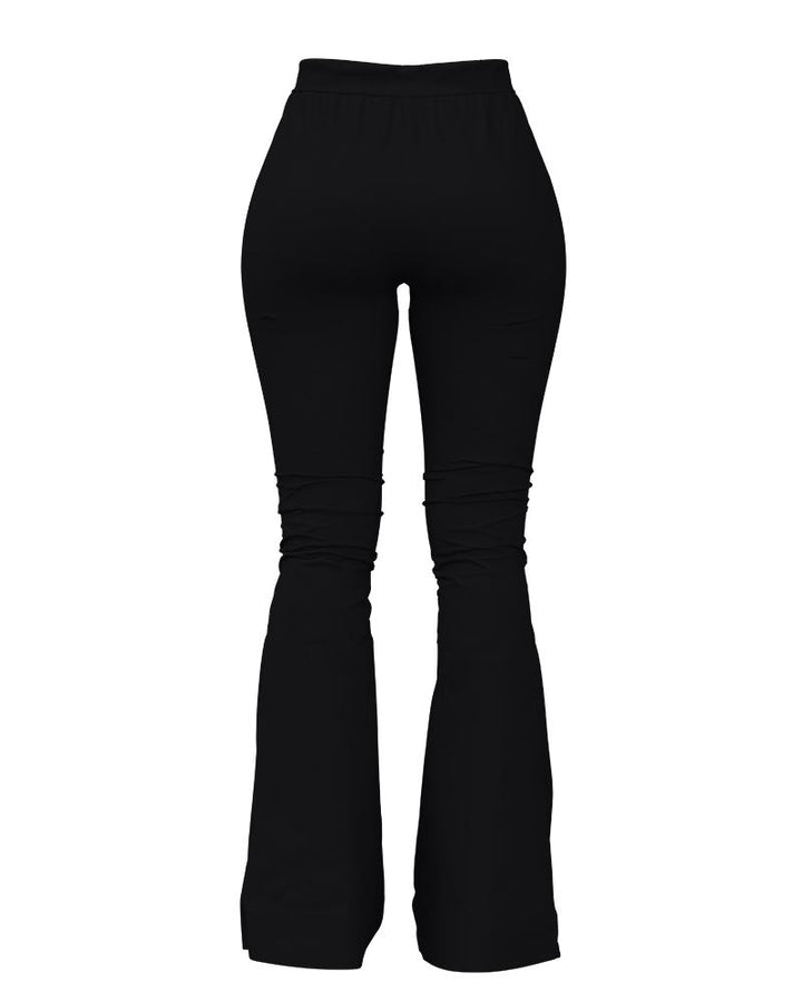 Solid Cut Out High Waist Flare Pants gallery 14