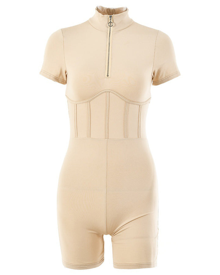 Zip Up Form Fitted Sports Romper gallery 5