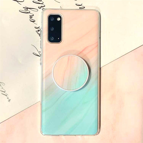 Gradient Shockproof Marble Phone Case for Samsung with Phone Holder gallery 7