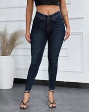 Vintage Solid Butt lifting Jeans