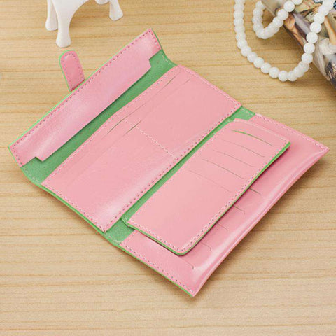 New Fashion Women Long Purse Soft PU Leather Strap Candy Color Wallet Card Holder Clutch Bag gallery 13
