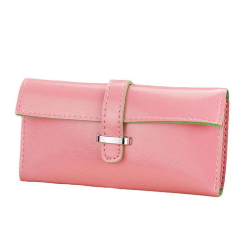 New Fashion Women Long Purse Soft PU Leather Strap Candy Color Wallet Card Holder Clutch Bag gallery 11
