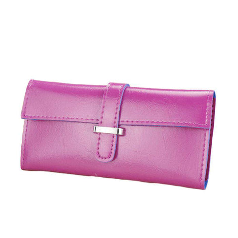 New Fashion Women Long Purse Soft PU Leather Strap Candy Color Wallet Card Holder Clutch Bag gallery 1