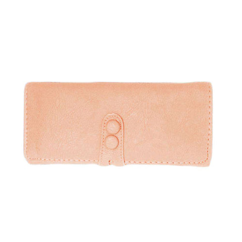New Fashion Women Long Purse PU Leather Press Stud Closure Candy Color Wallet Card Holder gallery 4