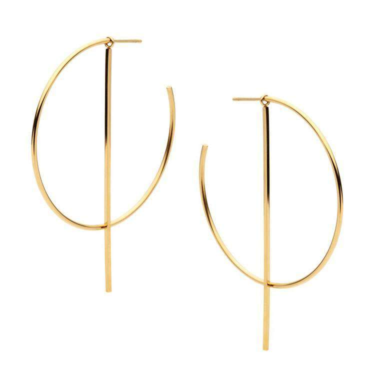 Golden Hangers With Crescent Circle