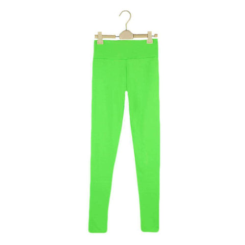 Fashion Women Leggings Fitness Candy Color Elastic Waist Stretchy Yoga Sport  Running Pants Trousers gallery 6